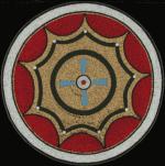 """2014 - smalti and gold - 35"""" diameter"""