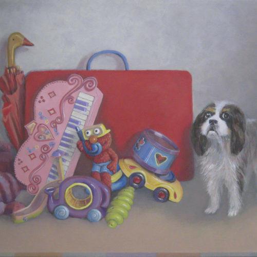 still life w doggy