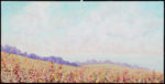 """Maeve Croghan, """"Clouds at Spring Ranch,"""" oil on canvas, 15"""" x 30"""""""