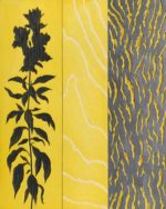 Snapdragon, Wood Grain, Bark - 10 in. x 8 in. - Mixed Media on Carved Wood Panel - Available