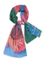 "Cotton Scarf, 28x78"" design based on original work, Extravagant Passion"