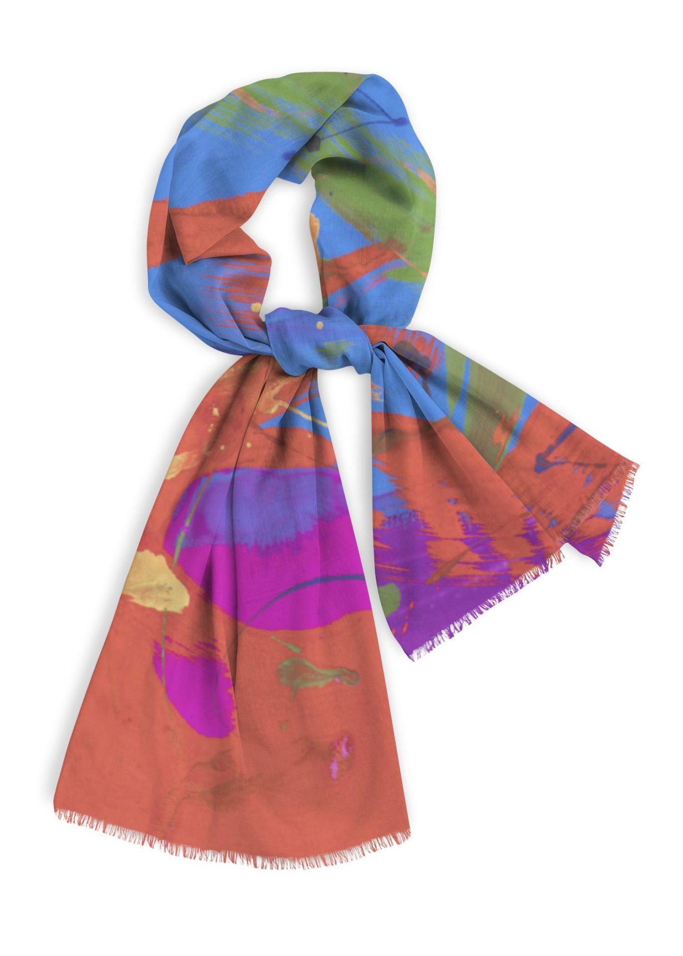 Natural Cotton Scarf, 28x78 inches