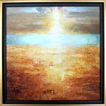 """Etude #2, oil on panel, 20"""" x 20"""", framed"""