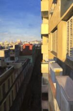 "Daybreak, Havana Oil on linen, 36""x24"", 2020, framed"