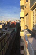 """Daybreak, Havana Oil on linen, 36""""x24"""", 2020, framed"""