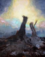 "Untitled Landscape #10, oil on panel, 8"" x 10"""