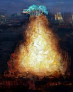"""Untitled Landscape #58, oil on panel, 8"""" x 10"""", framed"""