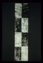 """A Solitary Being, sumi ink on rice papermounted on canvas ,96""""x24"""""""