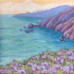 """Above Muir Spring, Oil on canvas, 8"""" x 8"""""""