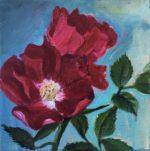 "5 x5 "" oil on canvas"