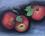 small painting of apples