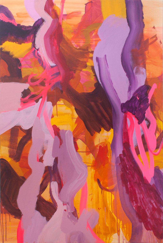 "Nicole Mueller, ""Adrift,"" Acrylic on canvas, 72 x 50 in., 2019"