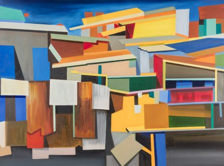 "Jeffrey Long ""Houseboats"" 36"" x 48"" Oil on Canvas"
