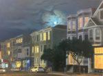 """Karen Wenger, """"Corona Moon"""",  24"""" x 32"""",  oil on canvas"""