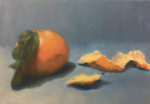 """Mandarin Orange 1"",    5"" x 7"",  oil on canvas"