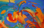 """Tumultuous Spring""  Gouache 25x40 on Watercolor paper."