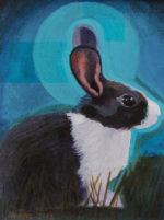 "Black & White Bunny; Paper; 5.5 x 4.25"""