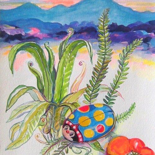 """Diana Krevsky """"Ferns and the Ladybug"""""""
