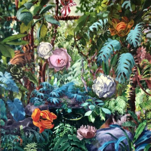 "Stephanie Peek ""La Grande Serre II,"" 2021,  50"" x 50"", oil on canvas"