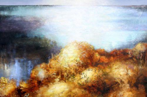 """Irena Kononova """"Waterways #5"""" (20"""" x 30"""", oil on canvas)"""