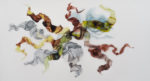 """Rebecca Haseltine """"Living in the Ground #4 36""""X55"""" ink on mylar"""