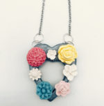Charming necklace made of poly clay