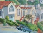 Plein air painting of Sherwood Forest neighborhood of San Francisco