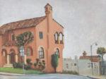 Villa on Monterey, Plein air landscape
