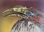 """James Gorman """"hornbill ( yellow),"""" silk screen"""