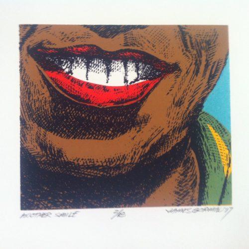 "James Gorman ""another smile,"" silk screen, 7""x8"""