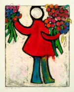 """Maria Mayr """"Guests are welcome"""", 16"""" x 20"""", monoprint"""