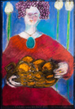 """Maria Mayr """"Give us today our bread"""", 16"""" x 24"""", oil on canvas"""