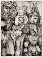"""Maria Mayr """"Goblins"""", 18"""" x 25"""", etching"""