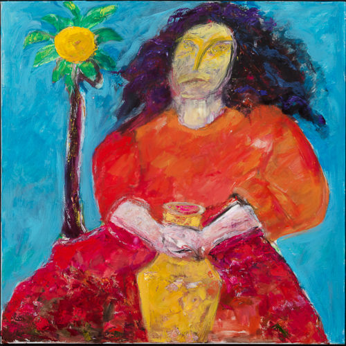Painting by Mari Mayr