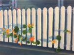 "Karen Wenger, ""Nasturtiums"", 9"" x 12"", oil on canvas"