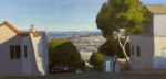 """""""View from Potrero Hill"""", oil on canvas, 10""""x20"""", framed"""