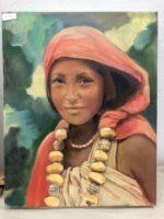 Harar girl with amber beads