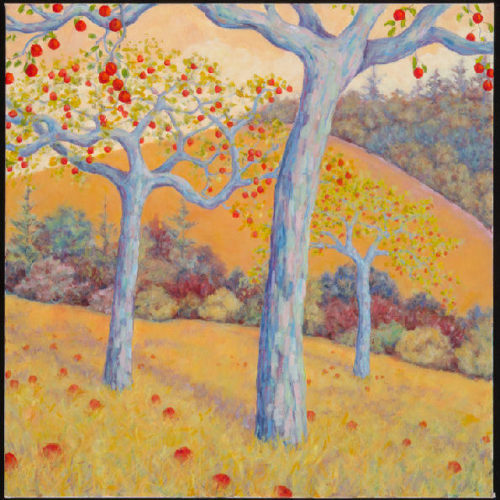 "Maeve Croghan ""Monet's Apples,"" oil on canvas, 30"" x 30"""