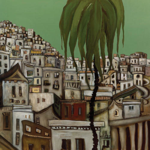 "Lone Palm, 2010, oil on canvas, 54"" x 54"" [sold]"